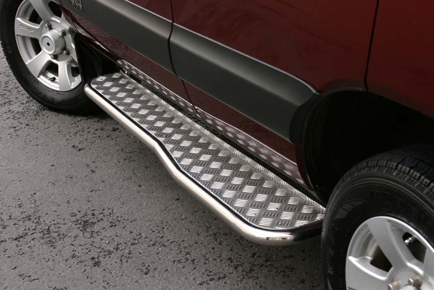 128Пороги подножки ступеньки для автомобиля своими руками