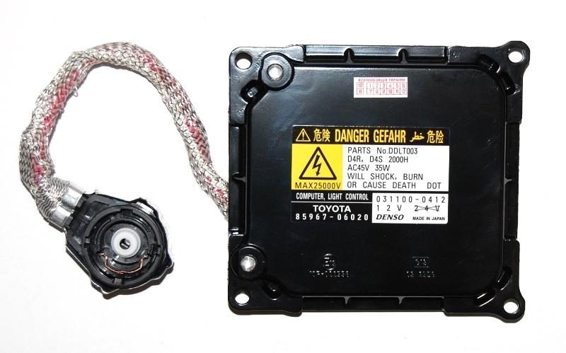 Штатный блок розжига японского производства Denso.  Совместим с ксеноновыми лампами цоколей D4R и D4S.