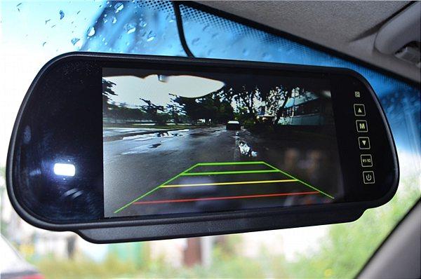 Зеркало заднего вида с монитором и камерой на стекло
